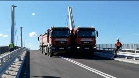 Most w Sobieszewie - próby obciążeniowe