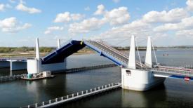 Zakończenie budowy mostu zwodzonego w Sobieszewie