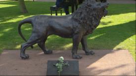 Lew dla Pawła Adamowicza. W ogrodzie Doraco stanęła wyjątkowa rzeźba