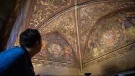 Ratusz Głównego Miasta. Odrestaurowane malowidła w Sali Wielki Krzysztof