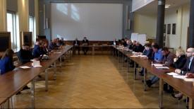 Posiedzenie miejskiego zespołu zarządzania kryzysowego w sprawie koronawiusa