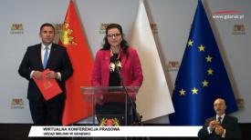 Dulkiewicz, Borawski, wirtualna konferencja prasowa