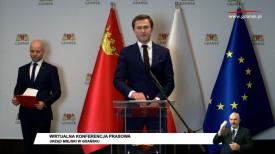 Piotr Grzelak i Alan Aleksandrowicz konferencja prasowa online
