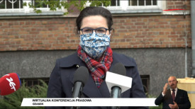 Dulkiewicz, Borawski, Kowalczuk konferencja prasowa o sytuacji w mieście