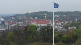 16 lat Polski w UE. Flaga wspólnoty na Górze Gradowej
