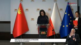 Wirtualna konferencja prasowa - Aleksandra Dulkiewicz i  Izabela Kuś
