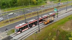 Testowy przejazd tramwaju Aleją Pawła Adamowicza