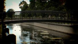 Lipce. Nowa kładka nad Kanałem Raduni obok Parku Ferberów prawie gotowa